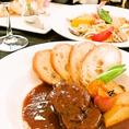 【おもろはうすのこだわり1】本格シェフが作る洋食の創作料理。一品一品、味もそうですが見た目の色鮮やかさが、女性のお客様からの支持も熱いです。