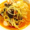 料理メニュー写真魚介のマリナーラ風 トマトパスタ