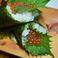 イクラ手巻(Salmon roe hand roll-sushi)