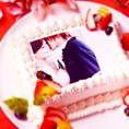 写真ケーキ、キャラクターケーキも可能です!記念のお写真でオリジナルのフォトケーキをご用意致します! 是非どうぞ!【 心斎橋 難波 イタリアン 女子会 チーズ 誕生日 】