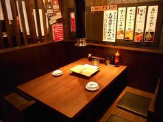 人気の半個室4名様までのテーブル席