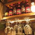 ワインに合わせたグラスをご用意しております。