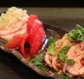 料理メニュー写真蒸し鶏二種盛り