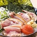 料理メニュー写真明太鶏たたき小丼