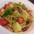 料理メニュー写真ジェノベーゼ(ベーコンとジャガイモ、豆)