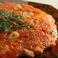 料理メニュー写真情熱の赤いキムチチヂミ   ハーフ/レギュラー