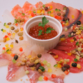 料理メニュー写真名物 海鮮カルパッチョ 5種盛り