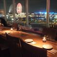 横浜の夜景が一望できるBarエリア。65名様までの貸切も承ります。