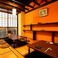 1部屋限りの掘りごたつ個室。人気の為、ご予約が◎