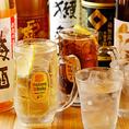 ◆プレミアムモルツ「香るエール」、生樽シードルが390円◆サワーの種類も豊富のため女性利用も急増中☆焼酎は50種類・日本酒は10種以上、常時ストック♪隠し酒もご用意しているのでお気軽にスタッフまで