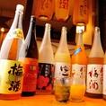 女性に人気の梅酒や果実酒など多数取り揃えております。新商品の「ばばあ梅酒」も随時2種以上取り揃えております。