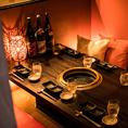 《渋谷個室肉バル》新宿の夜景がお愉しみいただけるBOX個室をご用意♪都会の夜景を見渡しながら優雅に宴会をお楽しみいただけます♪日常の喧騒、忙しさを忘れさせてくれるゆったり空間をご提供致します★