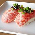 料理メニュー写真【黒毛和牛炙り寿司】