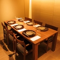 【完全個室】テーブルを広げて1室最大8名様まで可能です(個室料1部屋8000円/2部屋結合時15000円)