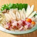 料理メニュー写真比内地鶏のきりたんぽ鍋(一人前)