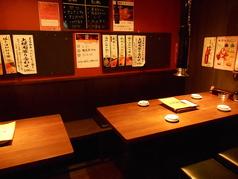 半個室タイプの4名様用席と6名様用席。最大10名様までご利用頂けます。