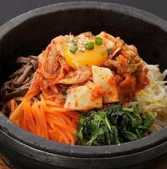 料理メニュー写真石焼明太ピビンバ/石焼チーズピビンバ