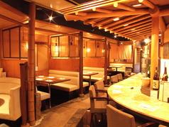 2名席×2つ3名席×1つ4名席×1つ5名席×1つ6名席×1つ5~7名席(半個室)×1つ1階でのテーブルのご用意になります。