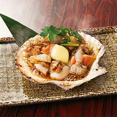 料理メニュー写真【北海道産】帆立の浜焼/かに味噌の甲羅焼