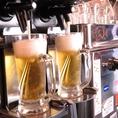 ビールは自動で注いでくれます!その他焼酎も多数ご用意!