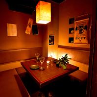 落ち着きのある個室空間♪デートや誕生日などにも◎