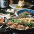 毎週火曜日は串焼きだけでなくもつ鍋全品半額!モガル名物チリチリもつ鍋は山盛りキャベツでヘルシーなので、女性に人気の一品です!