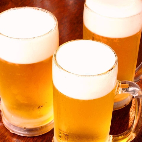 【単品飲み放題♪】生ビール含む70種類2H飲み放題★1280円→999円