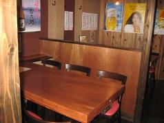 4名席と、6名席が2卓ずつあり