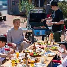 outdoor dining cafe ピーカンBBQの写真