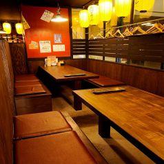 周りを気にせずわいわい宴会♪最大15名様迄可能なテーブル個室席!人気席なのでご予約をお勧めします♪