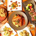 自慢のオマール海老料理を中心にイタリア料理を心ゆくまで堪能できるコースは、飲み放題付きでとってもお得な5,000円!テーブルオーダーバイキング制で思う存分にオマール海老をお楽しみ頂けます!ドリンクも約30品付いて、見逃せない!北新地駅周辺でのお食事、ご宴会なら、ぜひお洒落バル『UOMO』をご利用ください!