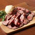 料理メニュー写真黒毛和牛のローストビーフ
