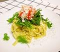 料理メニュー写真ズワイガニと水菜