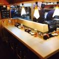 職人が握るお寿司を目の前で堪能!!※写真は系列店です。