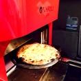 新しい釜にしました!!薪窯の温度の同じでピザで焼き上げるのでふっくらしっかり焼きあがります!!
