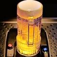 宇都宮では珍しい!?下からビールが抽出されるトルネードディスペンサーを完備!むらのない泡と、黄金色のビールは乾杯ドリンクにぴったり♪
