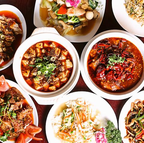 麻婆豆腐やフカヒレスープがリーズナブルな価格で堪能できる豊富な本格四川料理店