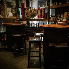 ちょっとハイテーブルな樽のお席、バールの雰囲気を味わいたいなら迷わずコチラ!! [2名様・喫煙席]