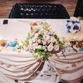 【ウエディング二次会に】ケーキや装花、シャンパンタワー、カメラマンなど、各種手配代行可能です!