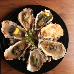焼き牡蠣 (1P/8種盛り)