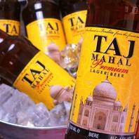 爽やかな味わいの「タージマハルビール」