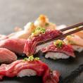 今大注目の肉寿司を膳屋オリジナルでご用意致しました!人気の高い肉寿司を是非ご賞味下さいませ♪