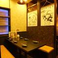 ベンチシートの個室はゆったり足をのばして落ち着けるくつろぎ空間。気の置けない仲間と飲み会やわいわいと楽しむ女子会などの楽しいひとときを過ごすのにも最適です◎