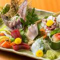 料理メニュー写真旬の鮮魚お刺身3点盛り