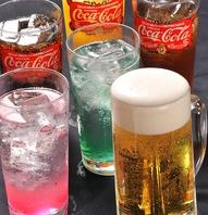 生ビール380円(税抜)飲まない方はソフトドリンク飲放有!