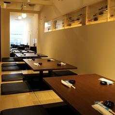 ≪2階:掘りごたつ特大個室≫21名様~最大24名様までの掘りごたつ席。5卓ある掘りごたつ席を全て繋げご宴会などにご利用して頂けます。