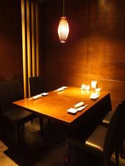 女子会・デートに最適な4名個室はプライベートな空間でお食事をお楽しみいただけます♪
