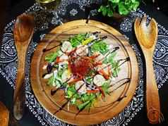 帆立の焦がしバターソテーとシャキシャキ野菜のコラボレーション