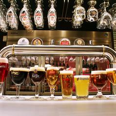 フランダースでしか味わえない料理とビールの組み合わせをどうぞ♪フランダーステイル自慢の生ビール11種を全部飲み放題にすることもできます!