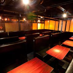 4階のムード満点テーブル個室は、30名様以上で貸し切りOKです!可動式個室なので、お客様のご要望に120%お応えします★